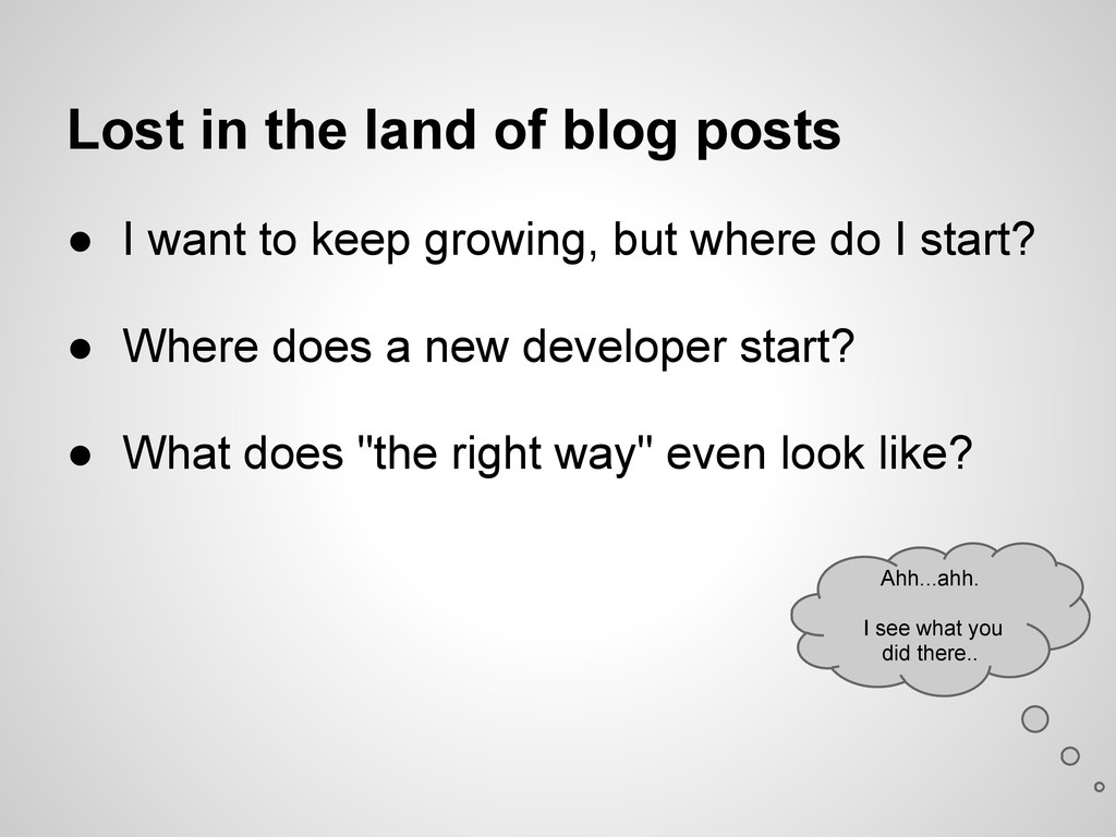 Lost in the land of blog posts ● I want to keep...
