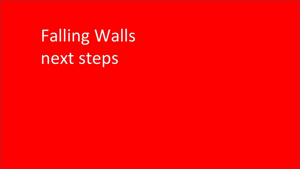 Falling Walls next steps