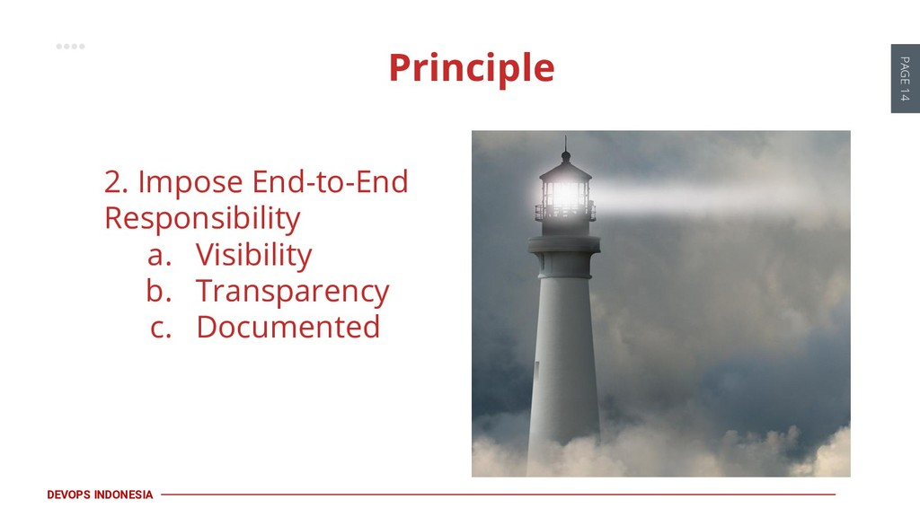 PAGE 14 DEVOPS INDONESIA 2. Impose End-to-End R...