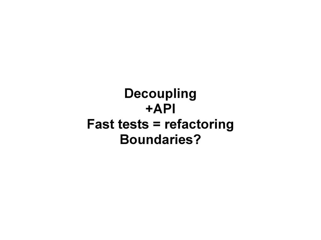 Decoupling +API Fast tests = refactoring Bounda...