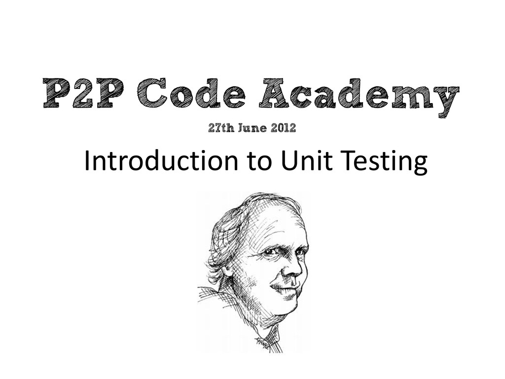 P2P Code Academy Introduction to Unit Testing 2...