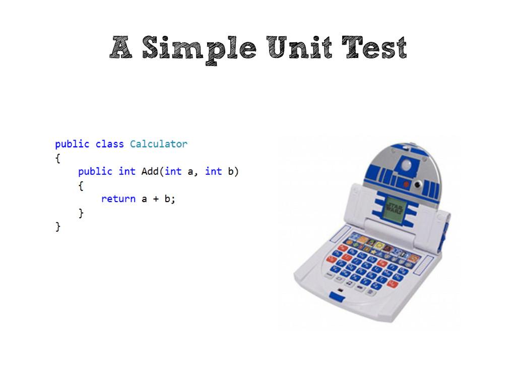 A Simple Unit Test
