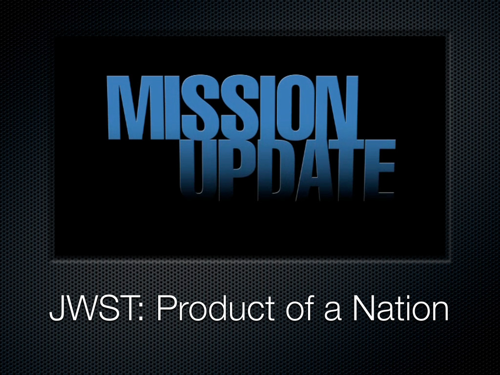 JWST: Product of a Nation