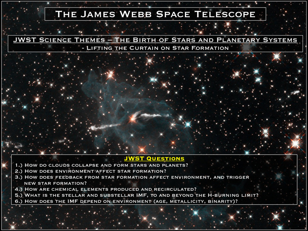 JWST Questions 1.) How do clouds collapse and f...