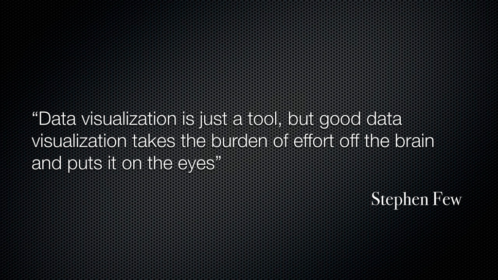 """Data visualization is just a tool, but good da..."