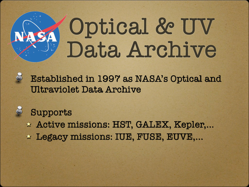 Established in 1997 as NASA's Optical and Ultra...