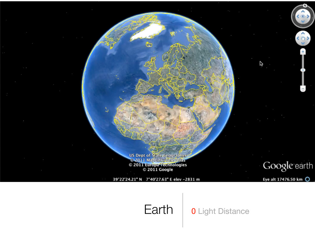 0 Light Distance Earth