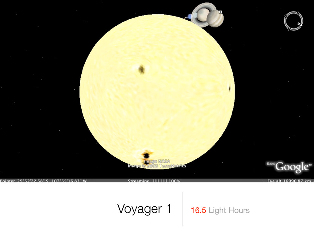 Voyager 1 16.5 Light Hours