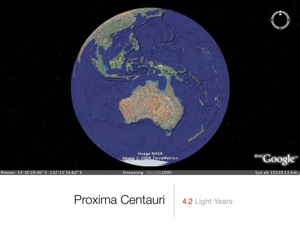 4.2 Light Years Proxima Centauri