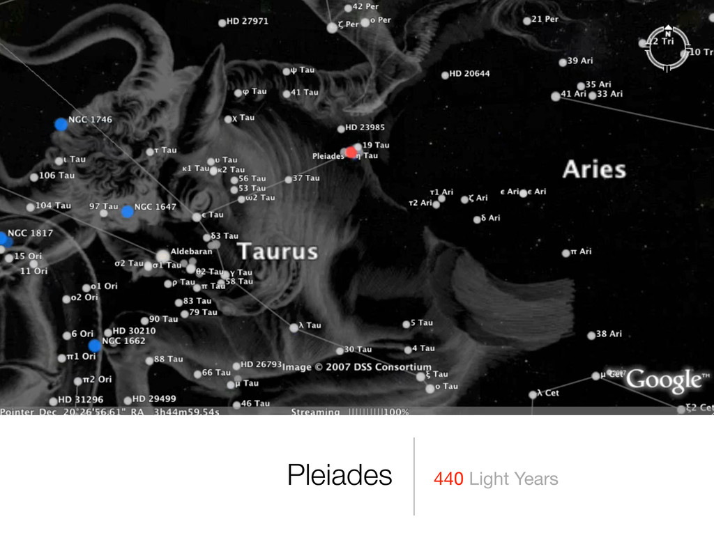 440 Light Years Pleiades