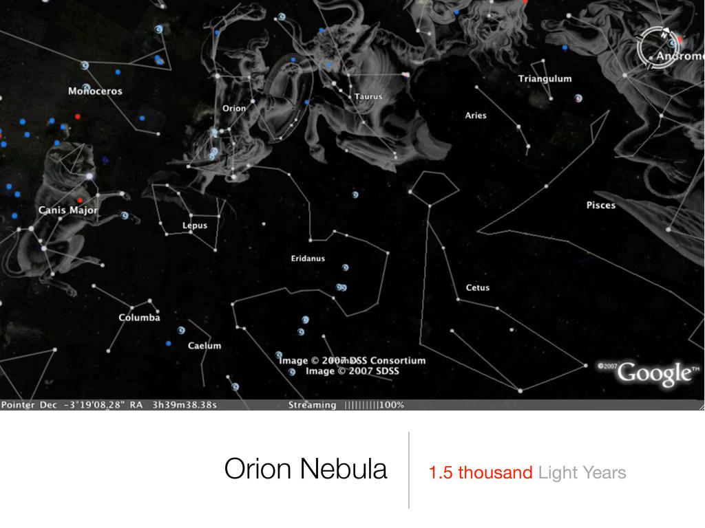 1.5 thousand Light Years Orion Nebula