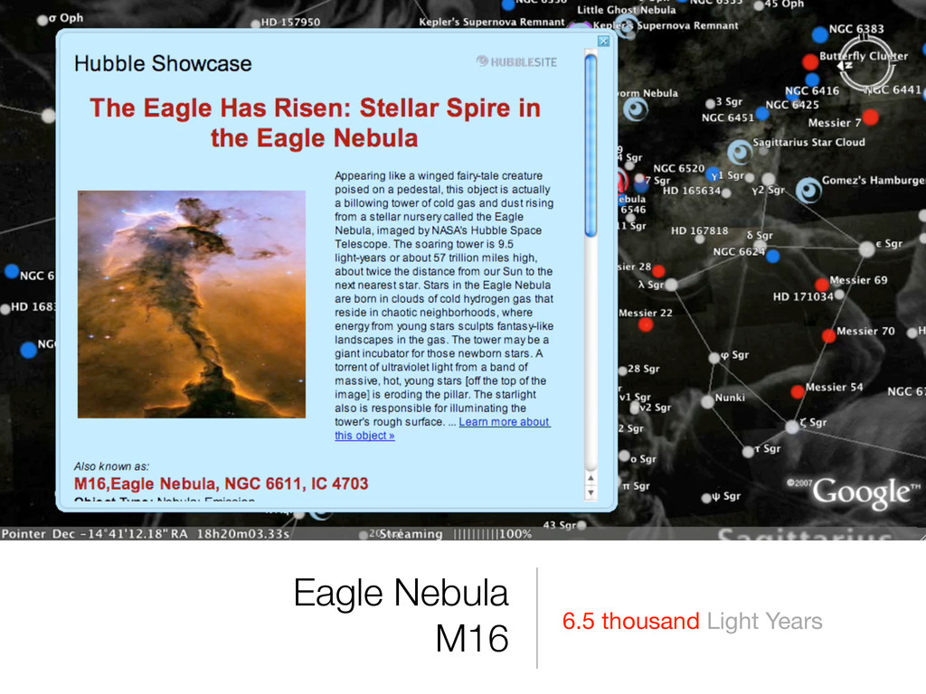 6.5 thousand Light Years Eagle Nebula M16