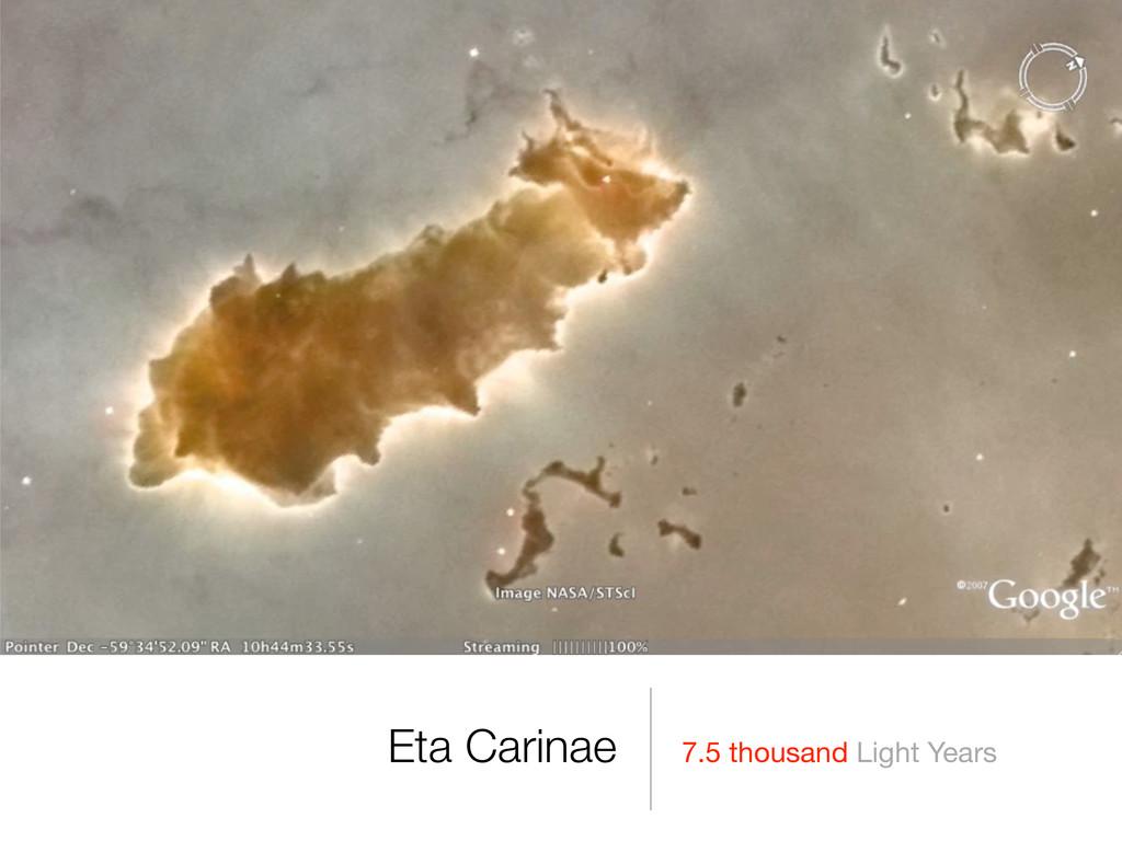 7.5 thousand Light Years Eta Carinae