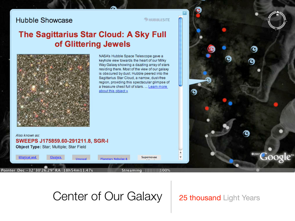 25 thousand Light Years Center of Our Galaxy