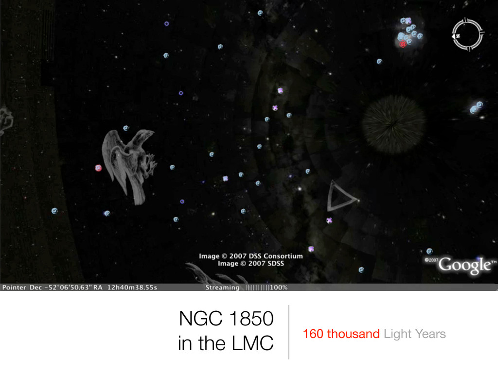 160 thousand Light Years NGC 1850 in the LMC