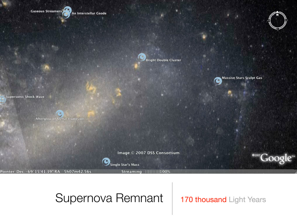 170 thousand Light Years Supernova Remnant