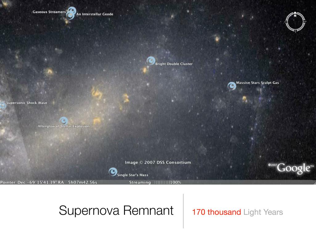 170 thousand Light Years Supernova Remnant