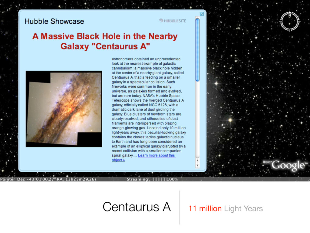 11 million Light Years Centaurus A