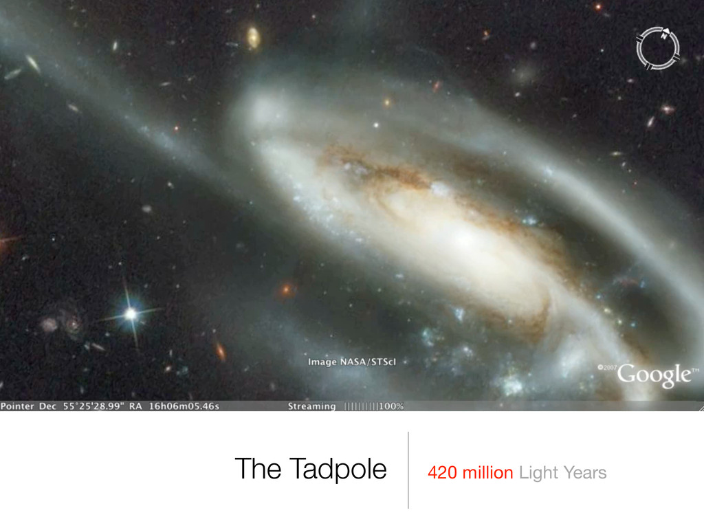 420 million Light Years The Tadpole