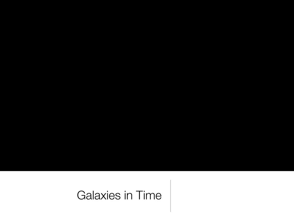 Galaxies in Time