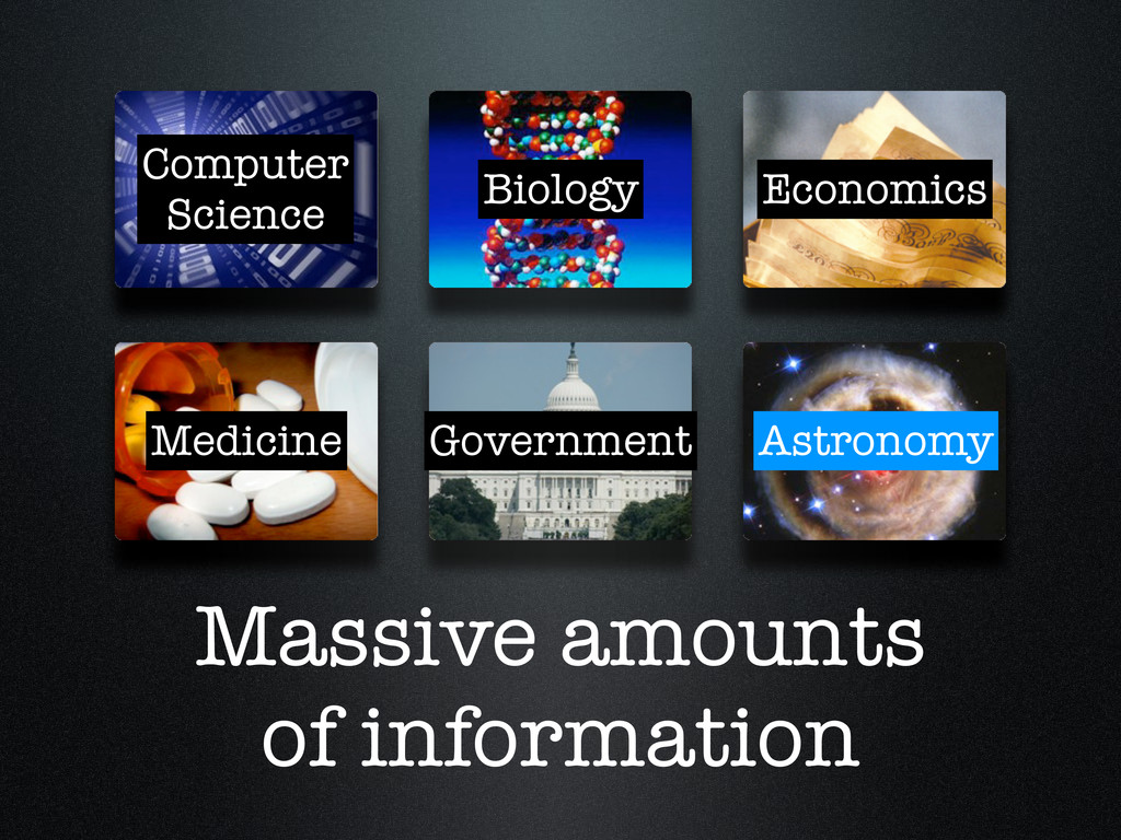 Massive amounts of information Computer Science...