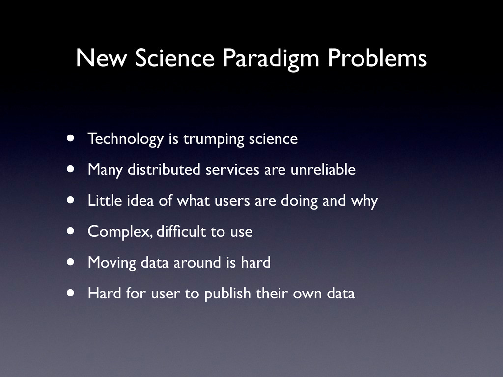 New Science Paradigm Problems • Technology is t...