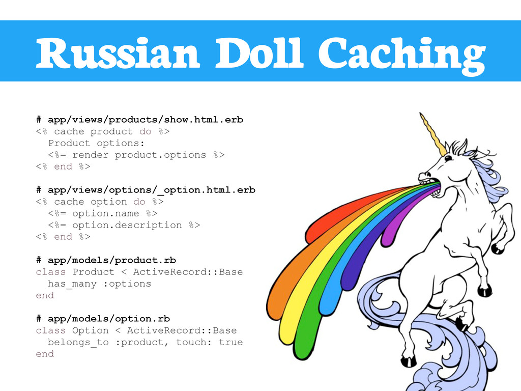Russian Doll Caching # app/views/products/show....