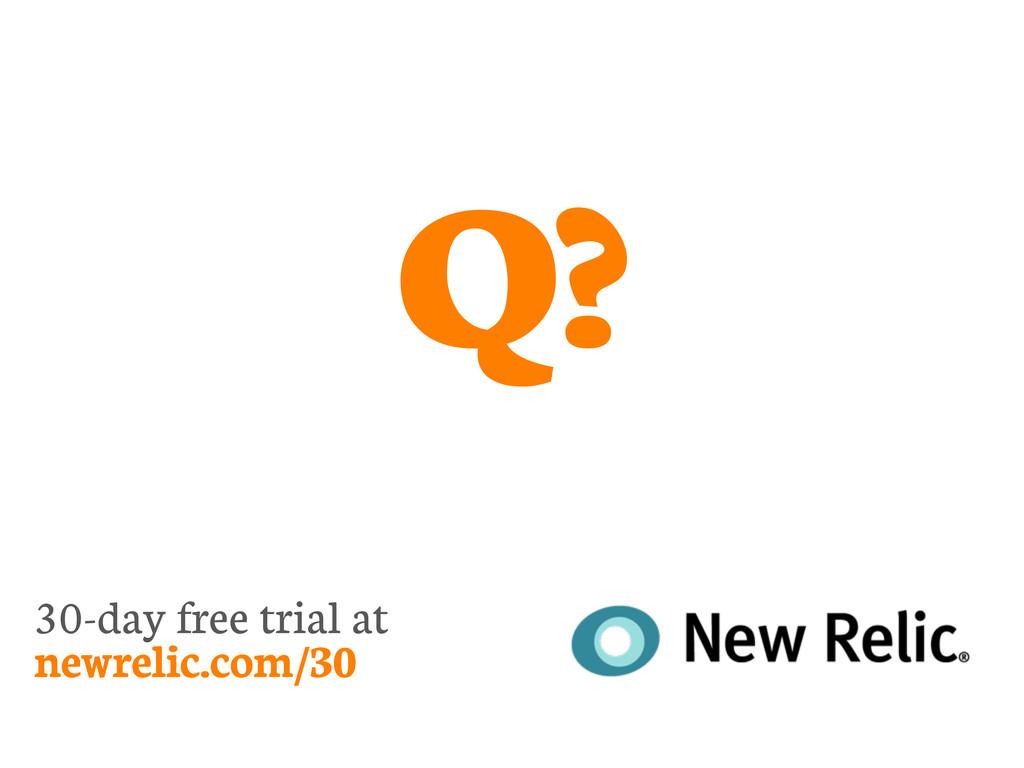 30-day free trial at newrelic.com/30 Q?