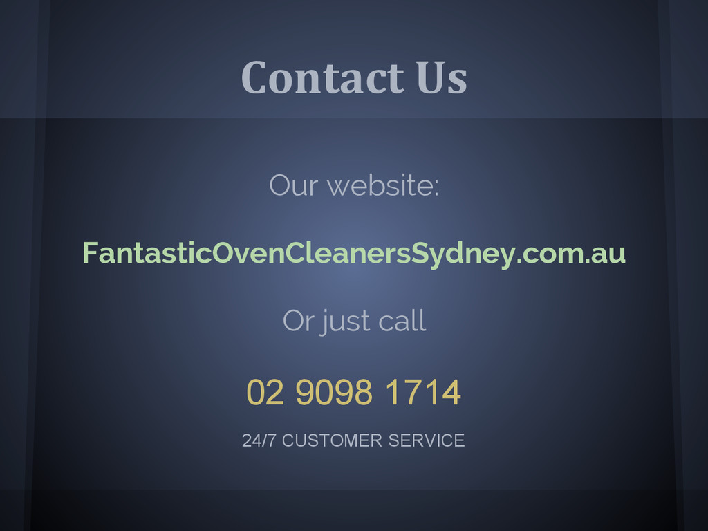Contact Us Our website: FantasticOvenCleanersSy...