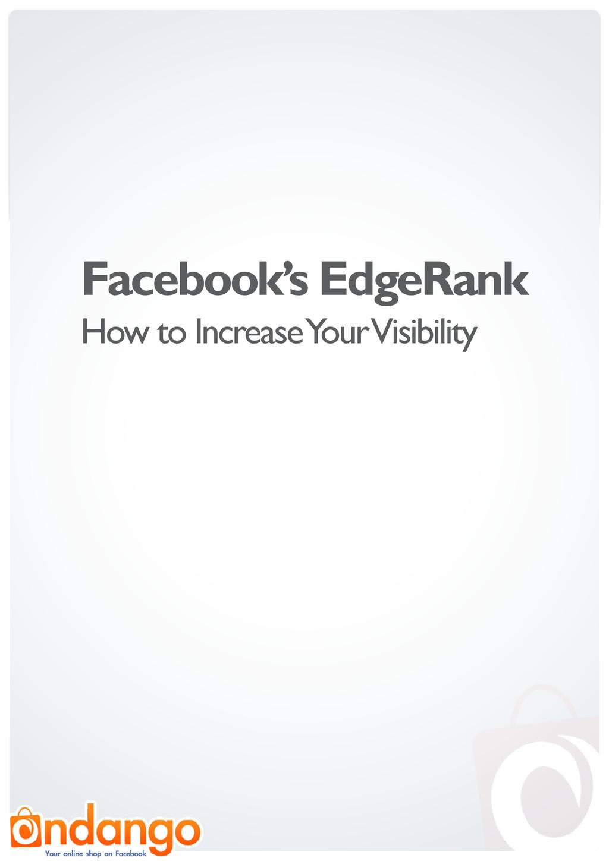 Facebook's EdgeRank How to Increase Your Visibi...