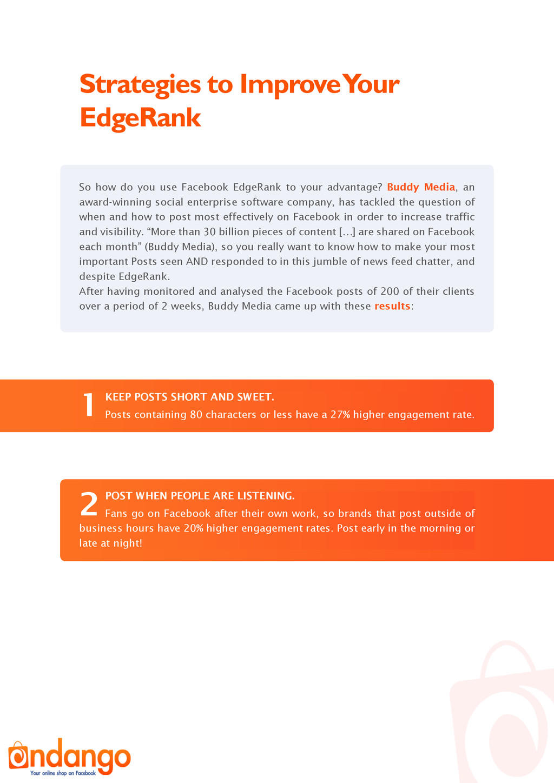 Strategies to Improve Your EdgeRank So how do y...
