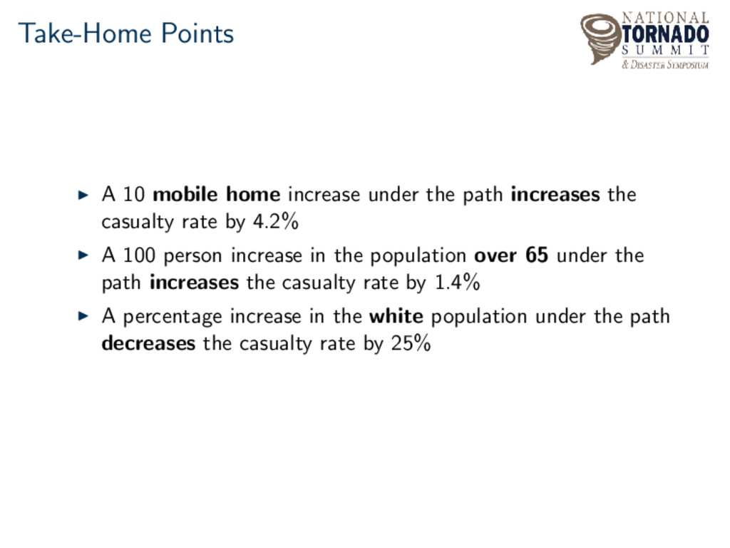 Take-Home Points A 10 mobile home increase unde...
