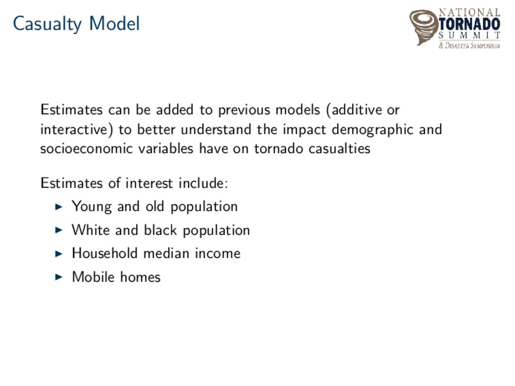 Casualty Model Estimates can be added to previo...