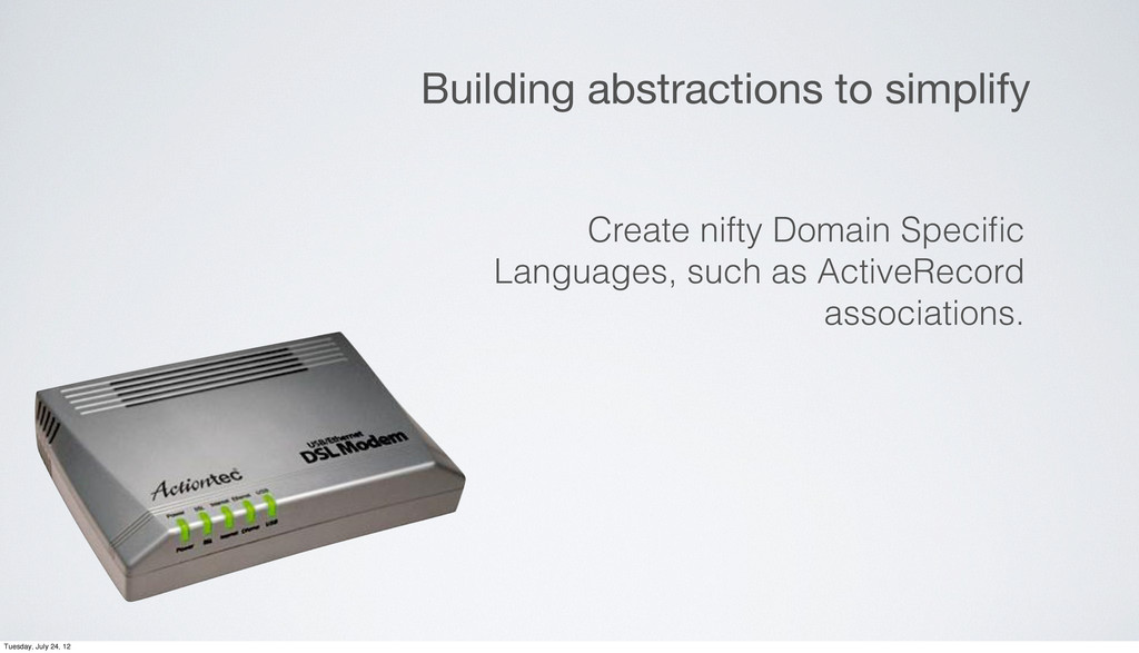 Building abstractions to simplify Create nifty ...