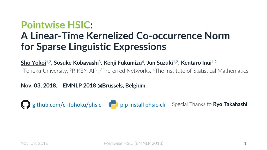Pointwise HSIC: A Linear-Time Kernelized Co-occ...