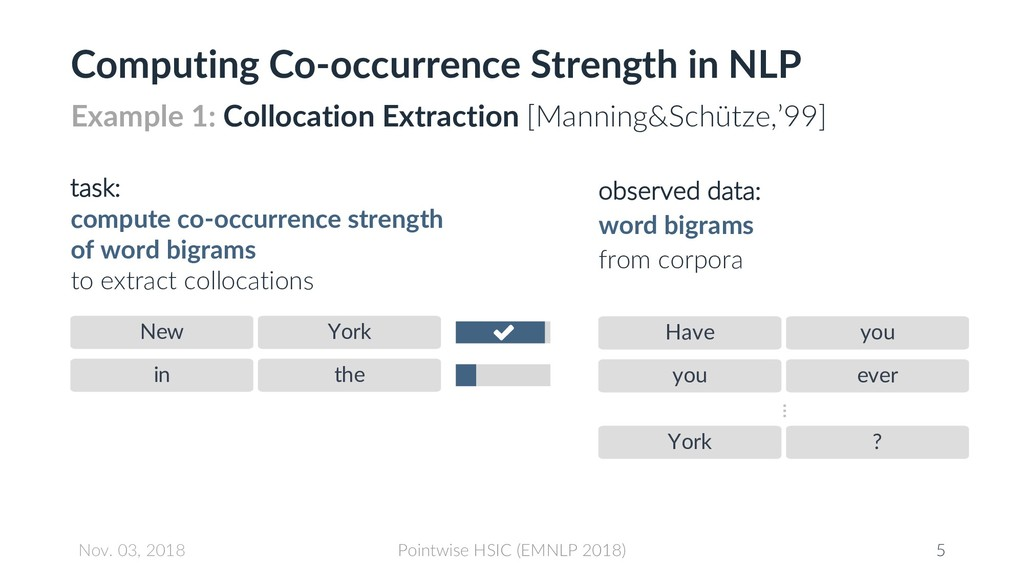 Computing Co-occurrence Strength in NLP New Yor...