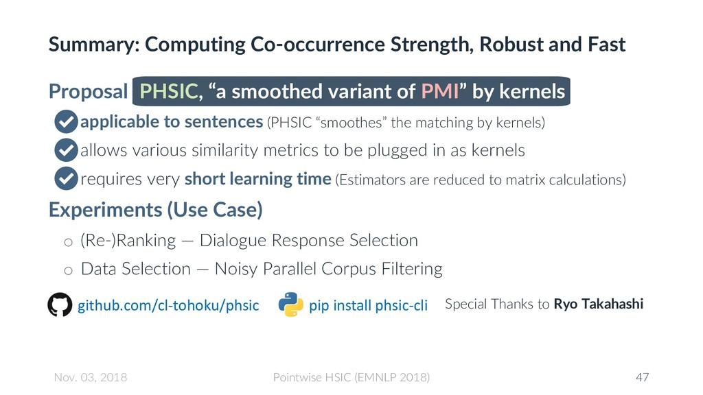 Summary: Computing Co-occurrence Strength, Robu...
