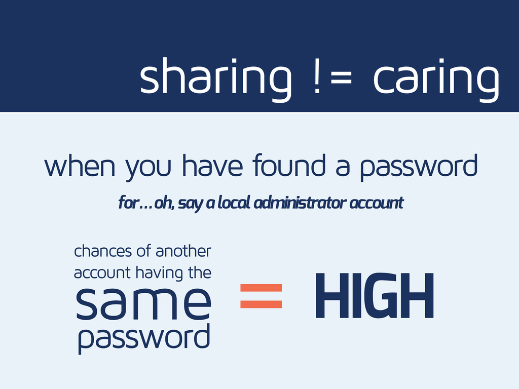 sharing != caring when you have found a passwor...