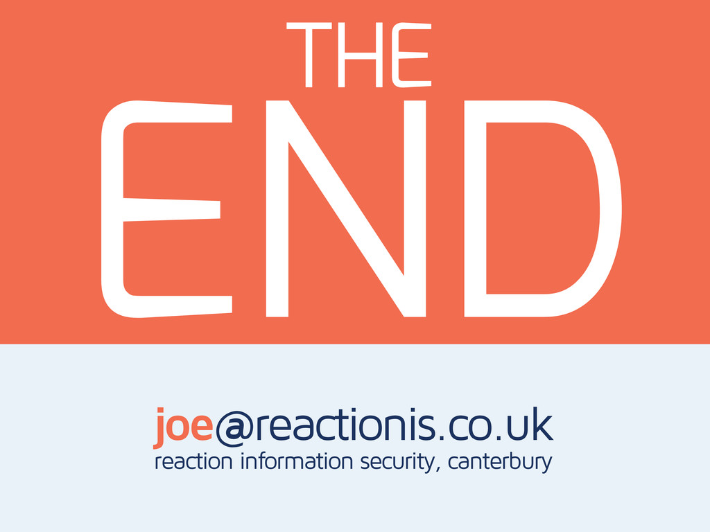 THE joe@reactionis.co.uk reaction information s...
