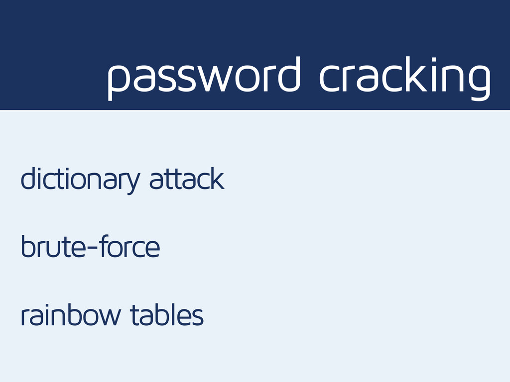 password cracking dictionary attack brute-force...