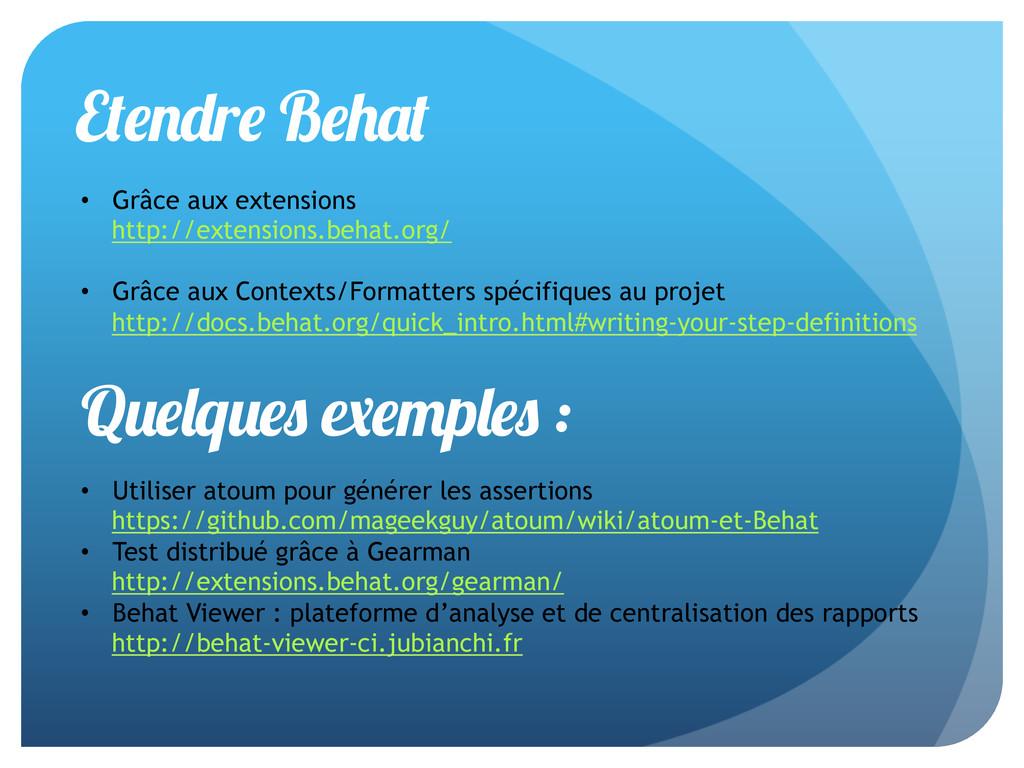 E r B • Grâce aux extensions http://extensions...