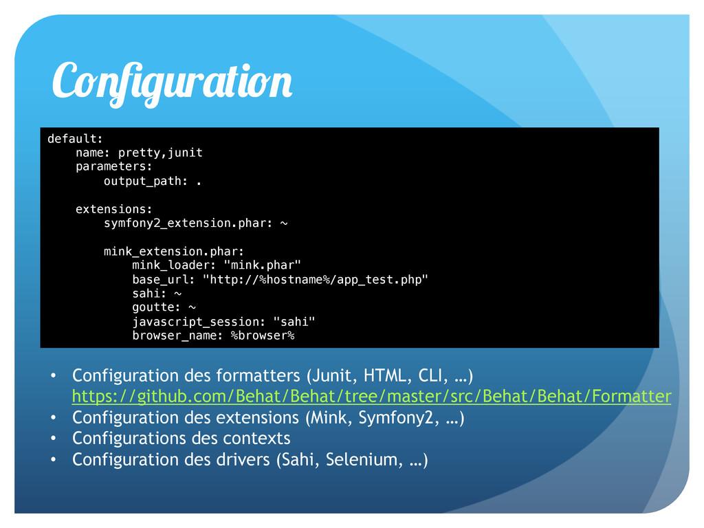 default:! name: pretty,junit! parameters:! outp...