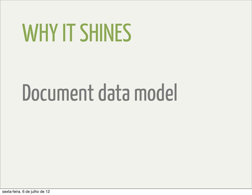 WHY IT SHINES Document data model sexta-feira, ...