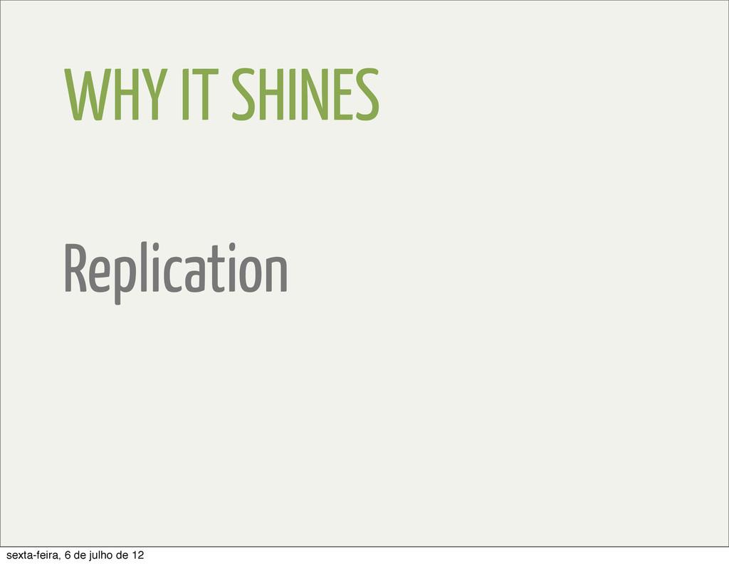 WHY IT SHINES Replication sexta-feira, 6 de jul...