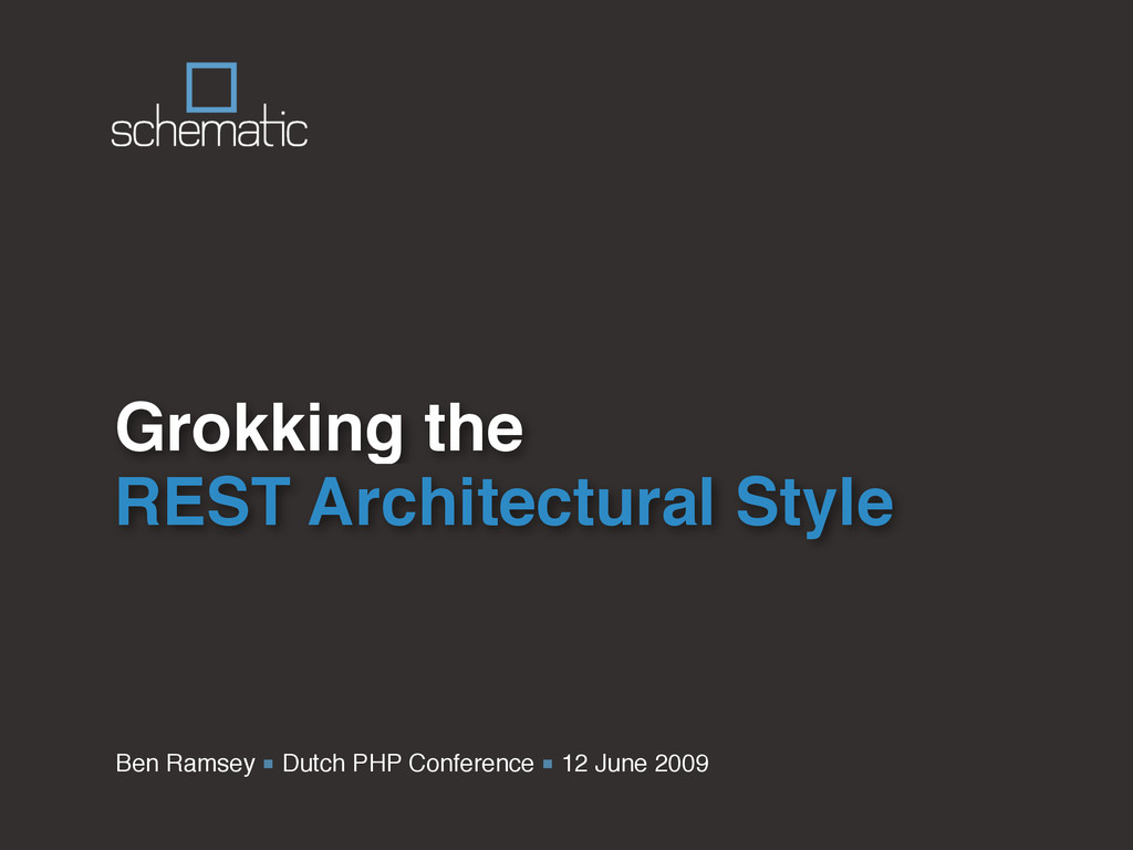 Ben Ramsey ■ Dutch PHP Conference ■ 12 June 200...