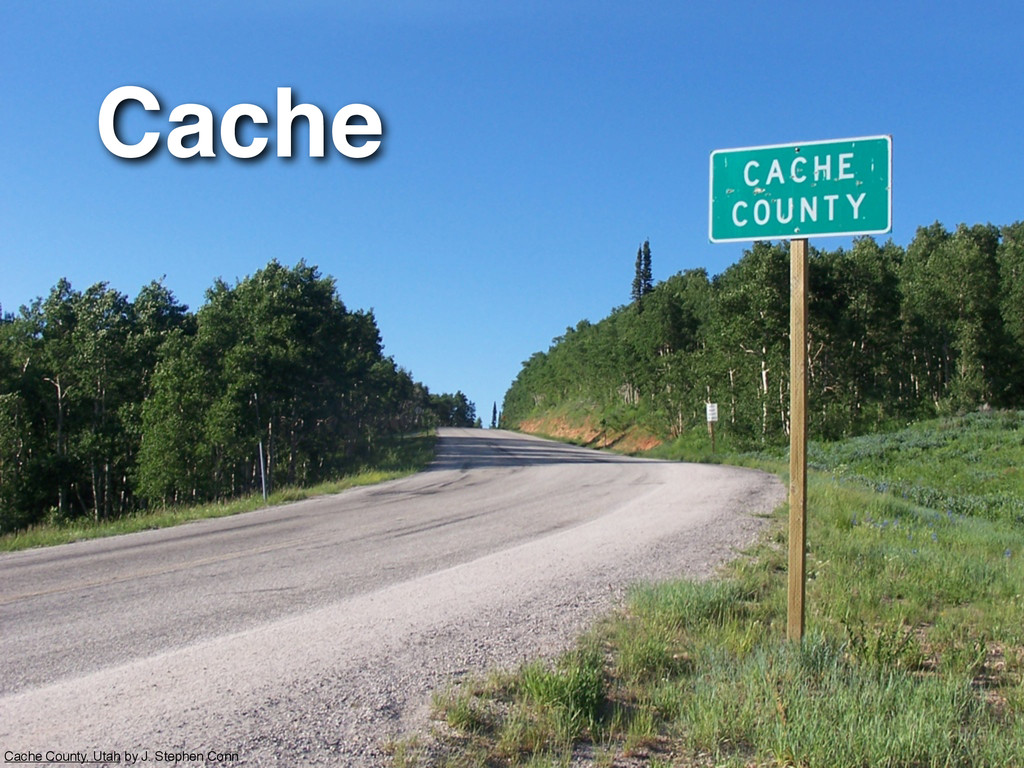 Cache Cache County, Utah by J. Stephen Conn
