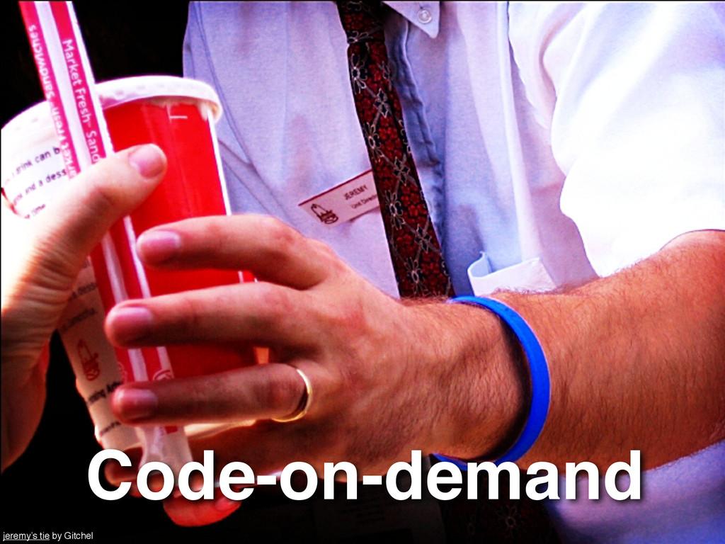 Code-on-demand jeremy's tie by Gitchel