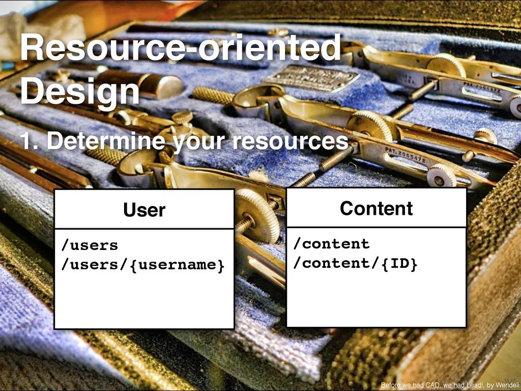 Resource-oriented Design 1. Determine your reso...