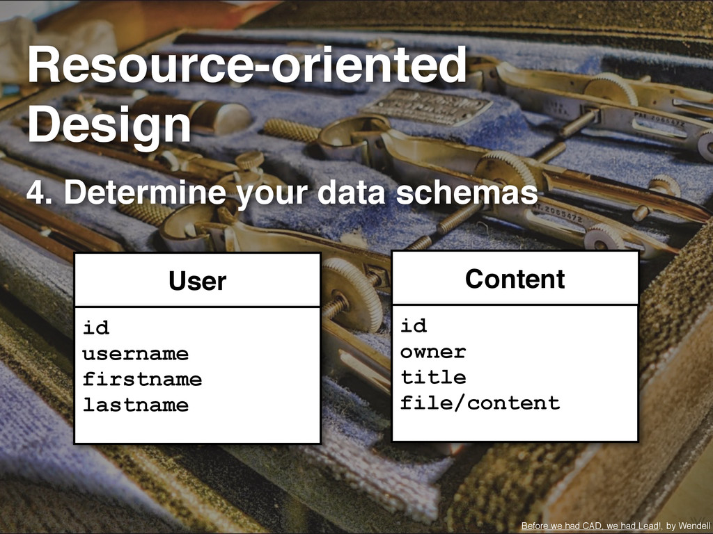 4. Determine your data schemas Before we had CA...