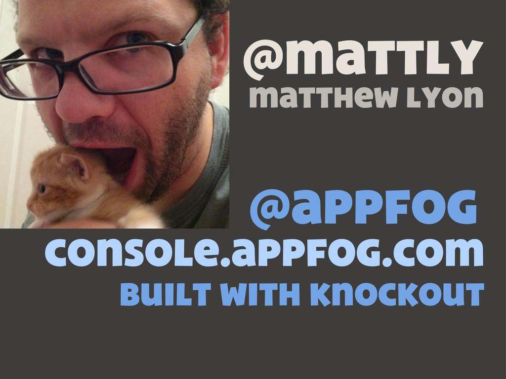 @appfog console.appfog.com built with knockout ...
